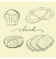 bread cake and pretzel vector image
