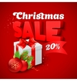 Christmas Sale with gift box vector image