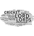 lord word cloud concept vector image