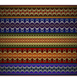 Set of ethnic seamless borders ribbons in various vector image