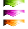Bright waves banners vector image vector image