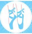icon ballerinas feet on pointes vector image