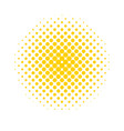 halftone dots colored abstract background in pop vector image