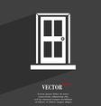 Door icon symbol Flat modern web design with long vector image vector image