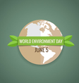 Nature banner World environment day concept vector image