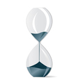 modern hourglass vector image vector image