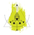 Sacred geometry abstract alchemy symbols vector image
