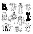 Cute cats sketch vector image vector image