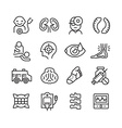 Medical Icons Related to Different Branches of vector image