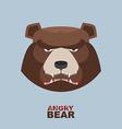 Angry bear head mascot Bear head logo for Hockey vector image