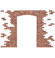 arch in brick wall vector image