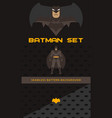 batman theme collection vector image