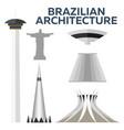 brazilian architecture modern flat design vector image