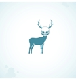 deer skull head vector image