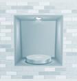 empty niche realistic brick wall clean vector image