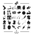Fishing hunting recreation and other web icon in vector image