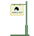 street notice board vector image
