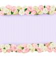 Wedding Flower Frame vector image