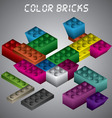 - Color Bricks vector image