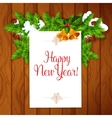 New Year best wishes poster vector image vector image