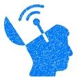 Open Mind Radio Interface Grainy Texture Icon vector image