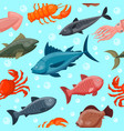 colorful under water world animals wallpaper with vector image