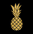 Gold glitter pineapple summer concept background vector image