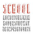 decorative sanserif font with effect of volume vector image