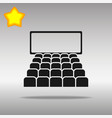 cinema black icon button logo symbol vector image