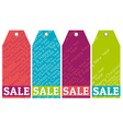 color christmas labels with sale offer vector image vector image