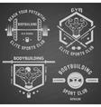 Bodybuilding white label set vector image vector image
