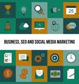 business seo and social media marketing vector image