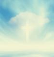 Christian Glowing Cross vector image