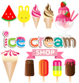 Collection of ice creams vector image