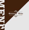 Retro restaurant menu design vector image