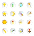 Sources of light icons set vector image vector image
