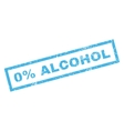 0 Percent Alcohol Rubber Stamp vector image