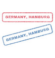 germany hamburg textile stamps vector image