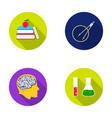 books an apple a man s head with a brain test vector image