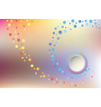Spiral abstraction on mesh backdrop vector image vector image