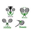 Tennis sport emblems vector image vector image