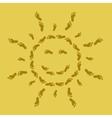footprint sun vector image