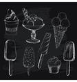 Ice cream on chalkboard vector image