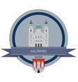 Salzburg vector image