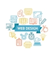 Web Design Icon Concept vector image vector image