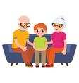 Family portrait vector image vector image