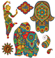 set of Indian symbols vector image vector image