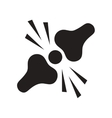 flat icon in black and white style problems joints vector image