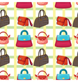 bags and purses wallpaper vector image vector image