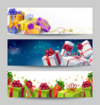 Gift Boxes Banner Set vector image